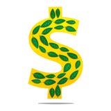 Green Money. Ethical Green Eco Money Finance Stock Image