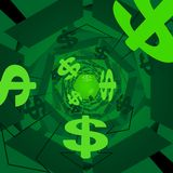 Green money background Stock Photo