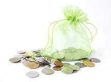 Green money bag Royalty Free Stock Photos