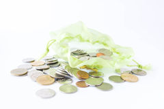 Green money bag Stock Photos