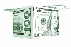 Green money shack, dollar cabin, currency hutch, banknote house Royalty Free Stock Photography