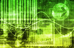 Green Money Technology Business Background. As Art Royalty Free Stock Photography