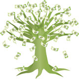 Green Money Tree Illustration Royalty Free Stock Photo