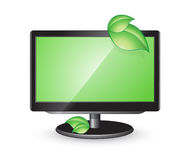 Green monitor Stock Photography