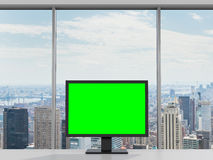 Green monitor Stock Images