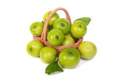 Green Monkey apple or jujubes in basket Royalty Free Stock Photo