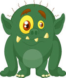 Green monster cartoon Royalty Free Stock Image