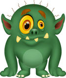 Green monster cartoon Stock Photos