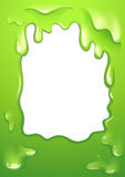 A green monster designed border. Illustration of a green monster designed border vector illustration