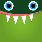 Green monster face background illustration Stock Image