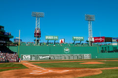 Green Monster, Fenway Park, Boston, MA. Stock Image
