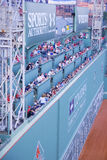 Green monster Fenway Park wall Stock Images