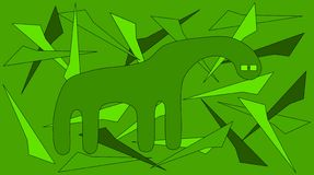 Green monster Royalty Free Stock Photo
