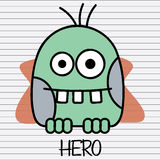 Green monster hero Royalty Free Stock Image