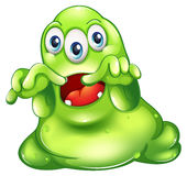 A green monster in horror Stock Image