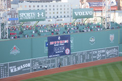 Green Monster leftfield wall Stock Photo