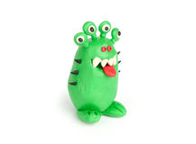 Green Monster of plasticine Royalty Free Stock Photography
