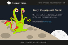Green monster on strange planet. Page not found Stock Photo