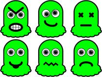 Green Monsters Royalty Free Stock Photography
