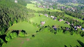 Green montains valley aerial view stock video