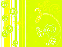 Green mood. Illustration of yellow and green flowers Royalty Free Illustration