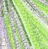 Green mosaic Stock Photography