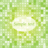 Green mosaic background Stock Images
