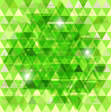 Green mosaic background Stock Image