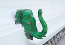 Green Mosaic Elephant Head Stock Photo