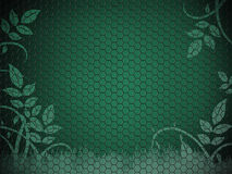 Green  mosaic with foliage Royalty Free Stock Photo