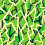 Green mosaic  seamless pattern with grunge effect Royalty Free Stock Photos