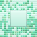 Green mosaic small tile texture background of spa. Royalty Free Illustration