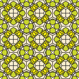 Green mosaic stained glass pattern background Stock Images