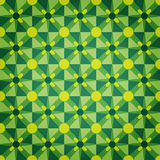 Green Mosaic Star Pattern Stock Image