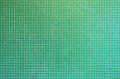 Green mosaic tile texture Stock Photography