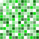 Green mosaic tiles. Square mosaic ceramic tiles in white and shades of green royalty free illustration