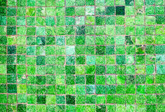 Green mosaic tiles Royalty Free Stock Photos
