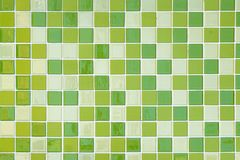 Green mosaic wall for background stock photo