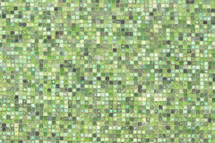 Green mosaic wall background texture Royalty Free Stock Image