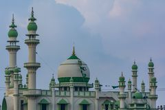 The Green Mosque at the Vizhinjam beach of Trivandrum royalty free stock images