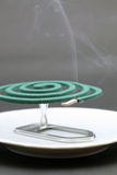 Green mosquito coil Stock Photo