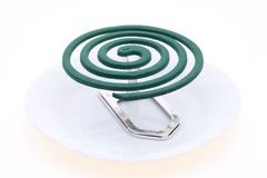 Green mosquito coil  Stock Photos