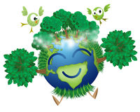 Green Mother Earth Stock Images