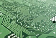 Green Motherboard Royalty Free Stock Images