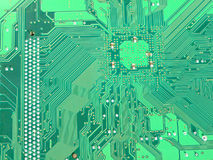 Green motherboard circuit Stock Photos