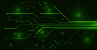 Green motherboard Stock Photo