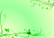 Green motif background. Background with green separation, abstract butterfly and motif Royalty Free Stock Photo