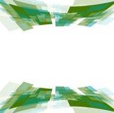 Green motion squares on white Stock Photo