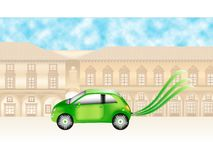 Green motor car Royalty Free Stock Image