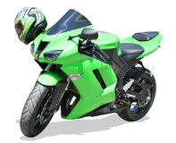 Green Motorcycle stock images